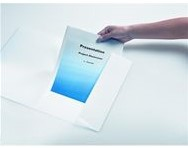 Presentatiemap Biella A4 wit karton met transparante insteek op het voorblad.