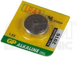 Knoopcel batterij GP-186/ LR43/ V12GA/D186A 1,5 volt.