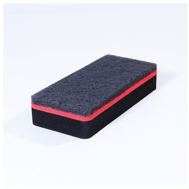 Whiteboard wisser Sigel magnetisch zwart ook voor glas- en magneetborden.