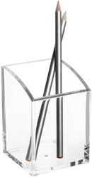 Pennenkoker Maul vierkant acryl transparant.