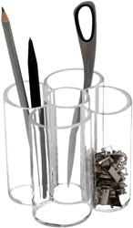 Pennenkoker Maul 5-vaks 11.5x10cm rond transparant.