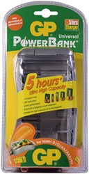 Batterij oplader GP-PB19GS t.b.v. AAA-AA-C-D 9 volt.