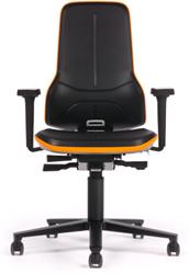 Bedrijfsstoel Neon 2 - 9573 stootrant oranje.