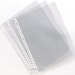 Showtassen Esselte A4 economy 23-gaats dikte 0.03mm generfd transparant copysafe 100 stuks.