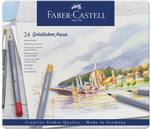Aquarelpotlood Faber-Castell Goldfaber CS bliketui 24 stuks.