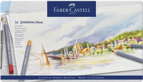 Aquarelpotlood Faber-Castell Goldfaber CS bliketui 36 stuks.