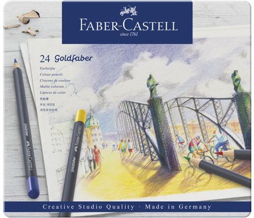 Kleurpotlood Faber-Castell Goldfaber SC bliketui 24 stuks.