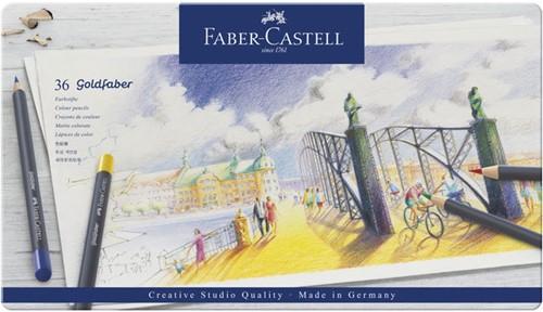Kleurpotlood Faber-Castell Goldfaber SC bliketui 36 stuks.