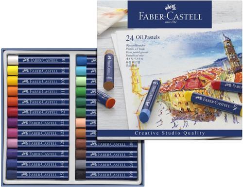 Oliepastels Faber-Castell Goldfaber CS doos 24 stuks.
