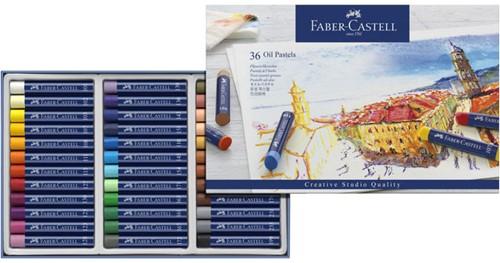 Oliepastels Faber-Castell Goldfaber CS doos 36 stuks.