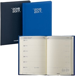 Agenda 2018/2019 Brepols Weekly Notebook Venezia 7 dagen op 1 pagina + notes 14,8x21cm 16 maanden, creme papier.