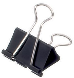 Papierklem Mauly 215 Foldback 19mm zwart 12 stuks.