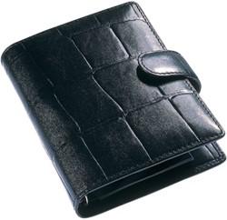 Agenda omslag Succes Junior model Firenze - mat rundleer met de klassieke crocoprint in de kleur zwart - mechaniek: 15mm PJ212F102.