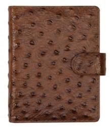 Agenda omslag Succes Junior model Struzzo - Italiaans kalfsleer met tweetonig struisvogelpatroon in de kleur bruin - mechaniek: 15mm PJ256SZ01.