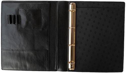 Schrijfmap Succes A4 35mm DeLuxe - omslag leder zwart SB94DL2.-2