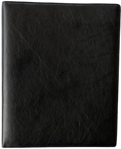 Schrijfmap Succes A4 35mm DeLuxe - omslag leder zwart SB94DL2.