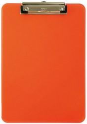 Klembord Maul A4 staand met klem transparant neon oranje.