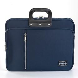 Laptoptas Bombata 24H met extra opbergvak in de kleur Gabardina blue.