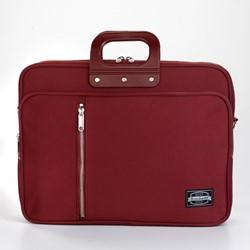 Laptoptas Bombata 24H met extra opbergvak in de kleur Gabardina burgundy.