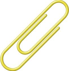 Paperclip Alco geel 27mm 100 stuks.