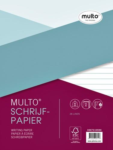 Interieur Multo A5 17-rings 80 grams 50 vel gelinieerd.