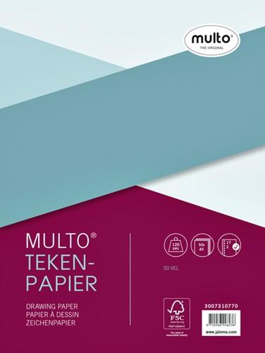 Interieur Multo 17-rings 120 grams 50 vel tekenpapier.