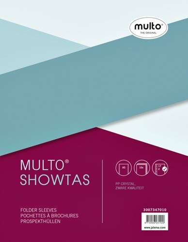 Showtassen Multo 17-gaats dikte 0.14mm glad 10 stuks.