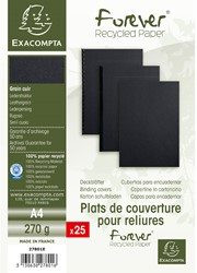 Schutbladen Exacompta A4 karton zwart 25 stuks.