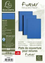 Schutbladen Exacompta A4 karton blauw 25 stuks.