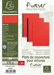 Schutbladen Exacompta A4 karton rood 25 stuks.