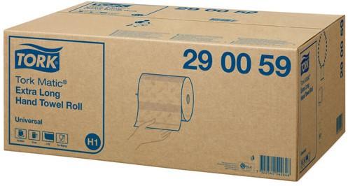 Handdoekrollen Tork universal wit 1-laags 21x24.5cm 280meter/1143 vel 6 rol systeem H1.