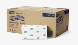 Handoeken Tork groen zigzag 2-laags 23x25cm 15x200 stuks systeem H3.