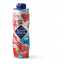 Limonadesiroop Karvan Cevitam aardbei 75% fruit 0.75 liter.