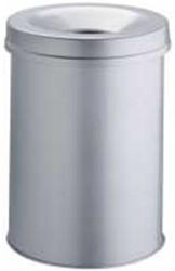 Papierbak Durable 330510 metaal + vlamdover rond 15 liter grijs.