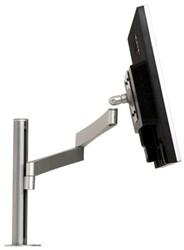 Monitor arm Ergomaster Design 2 schermen maximaal 24 inch kleur zilver.