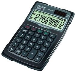 Rekenmachine Citizen WR-3000 12-cijferig digitaal dual power.waterresistant.