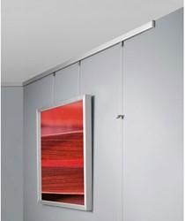 Wissellijst Sigel 21x29.7cm aluminium zilverkleurig metallic. OP=OP!