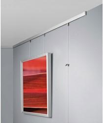 Wissellijst Sigel 30x40cm aluminium zilverkleurig metallic. OP=OP!