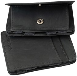 Magic Wallet Coin Hunterson RFID Cow leather grey.