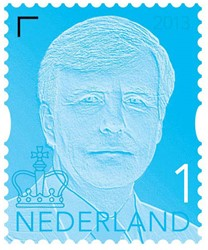 Postzegel 10x nr.1 Koning Willem-Alexander.