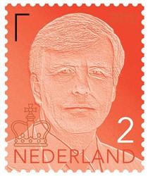 Postzegelvel 5x nr.2 Koning Willem-Alexander.