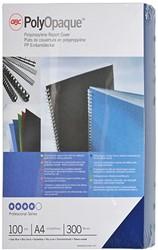 Hardfoliekaft GBC A4 Polyopaque mat kunststof 300 micron donkerblauw 100 stuks.