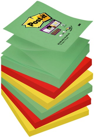 Memoblok 3M Post-it Z-Notes S330-6MK 76x76mm Super Sticky Mar 6 bloks.