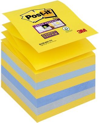Memoblok Post-it Z-notes R330 Super Sticky 76x76 New York 6 bloks.