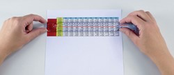 Loeplat (leesliniaal) Uitvergroting 1.5x, lens 3x lengte 25cm.