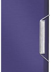 Dossiermap 3-kleps Leitz Style A4 kunststof titaniumblauw.