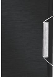 Dossiermap 3-kleps Leitz Style A4 kunststof satijnzwart.
