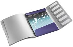 Sorteermap Leitz Style A4 6-tabs kunststof titaniumblauw.