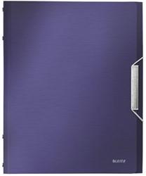 Sorteermap Leitz Style A4 12-tabs kunststof titaniumblauw.