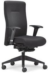 Bureaustoel Rovo XP4015 zwart voetkruis kunststof zwart.